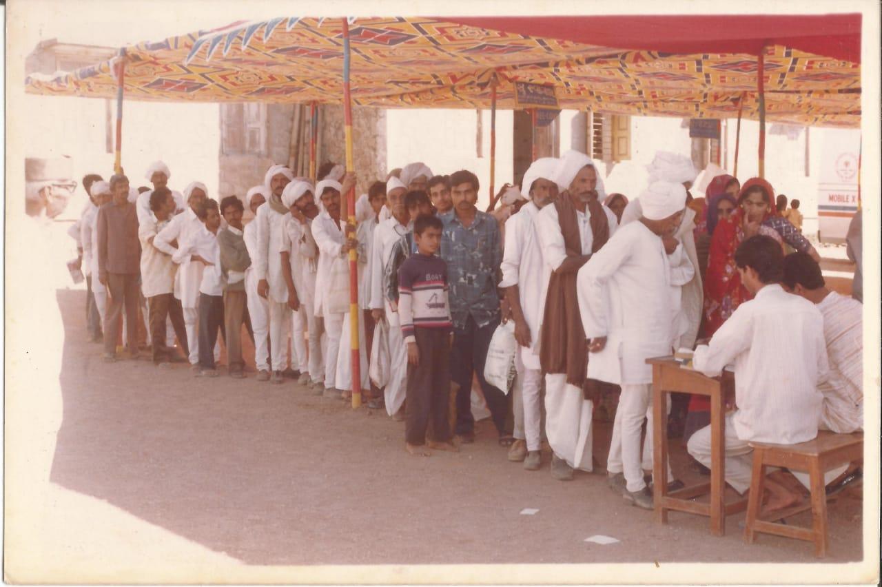 ટી.બી. રીશર્ચ સેન્ટર (અમરગઢ) - ક્ષયરોગ નિદાન કેમ્પ , ગામ  ડુંગર